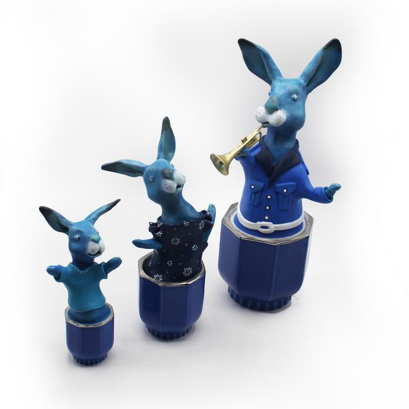 trio des lapins bleus Milie 2020 bd