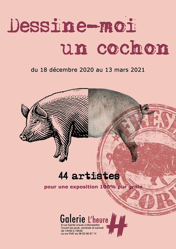 Affiche exposition Dessine-moi un cochon