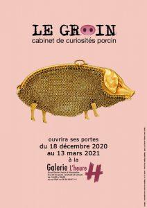 Affiche LE GROIN, cabinet de curiosités porcin